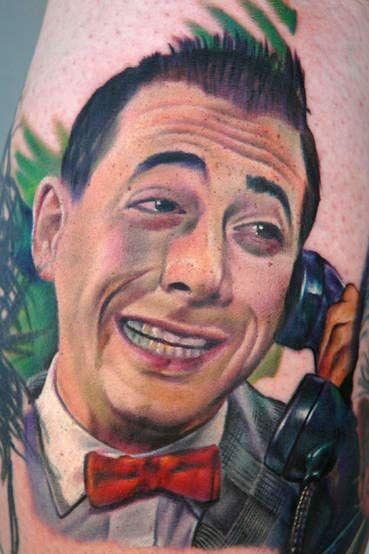 Love this - Pee Wee Herman portrait tattoo - Mecca lecca hi, mecca hiney ho! | Tattoos I Think ...
