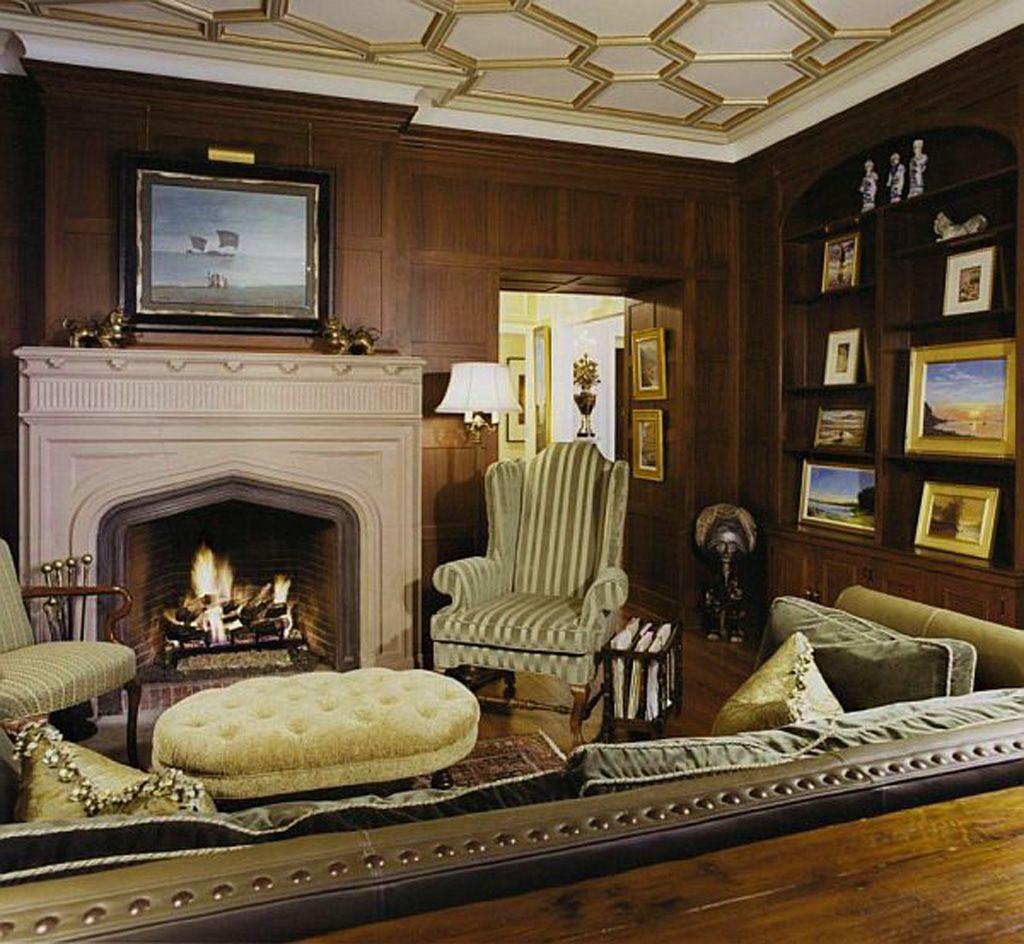 wood paneled wall image