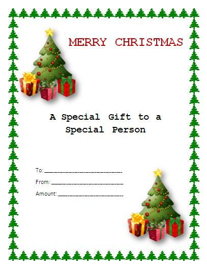 Christmas Gift Certificate Template Craft Ideas Pinterest - christmas certificates templates for word