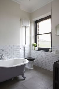 Cool modern wainscoting panels in Bathroom Victorian with ...