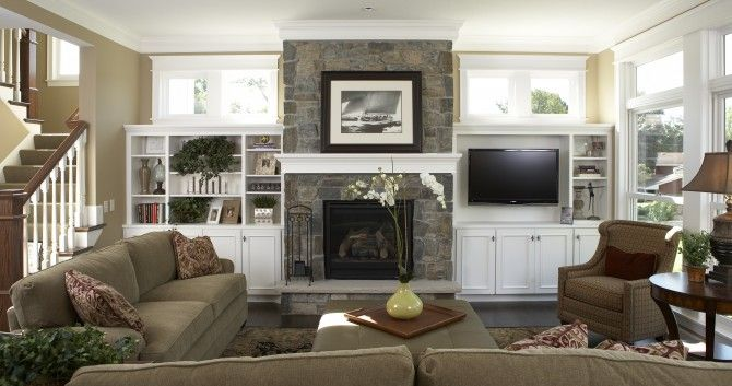 Image detail for -living room, family room, traditional living - the living room center