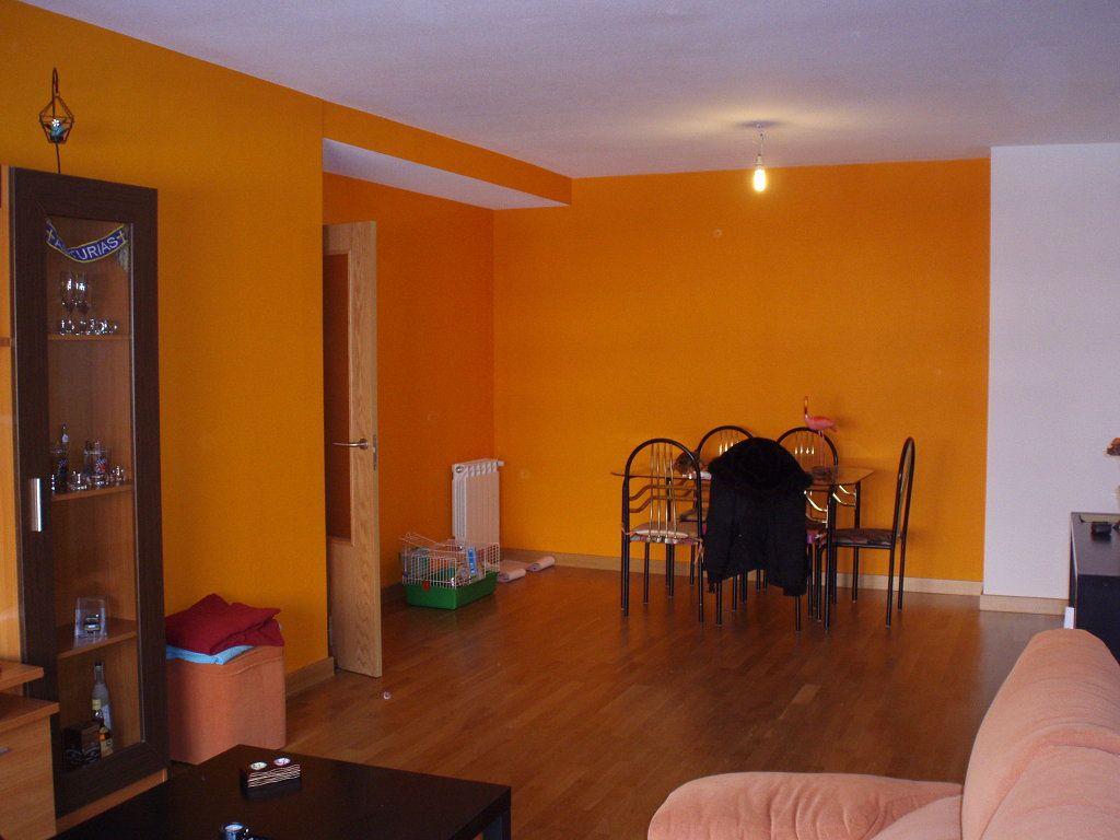 Pintura Para El Salon Pared Salon Naranja Decorar Tu Casa Es Facilisimo