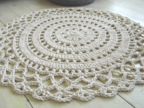 Crochet Rope Giant Doily Rug 100 Cotton 42quot Cotton And
