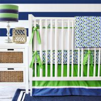 Baby Boy Nursery Bedding: Royal Blue and Kelly Green ...