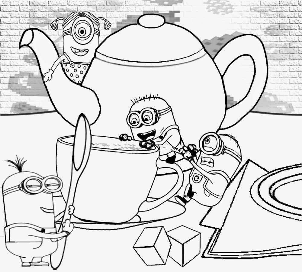 Free Colouring Pages For Minions -