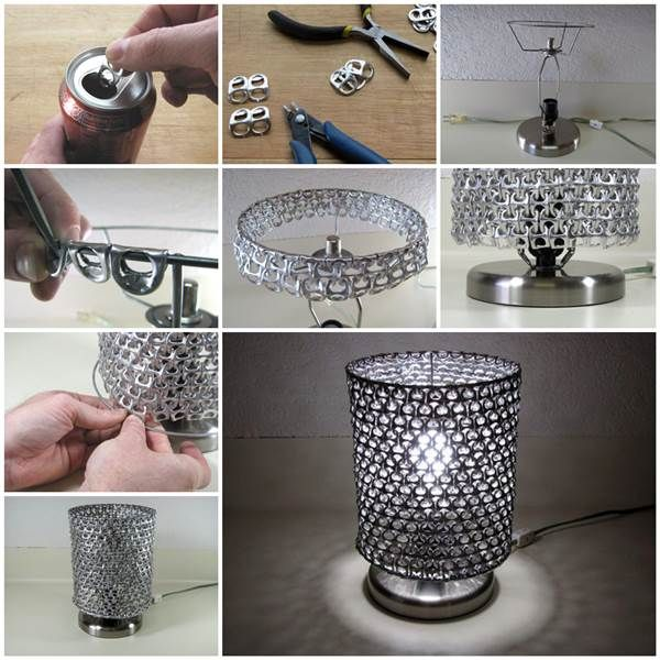 How To Make Unique Lampshade From Soda Can Pop Tabs | Creative