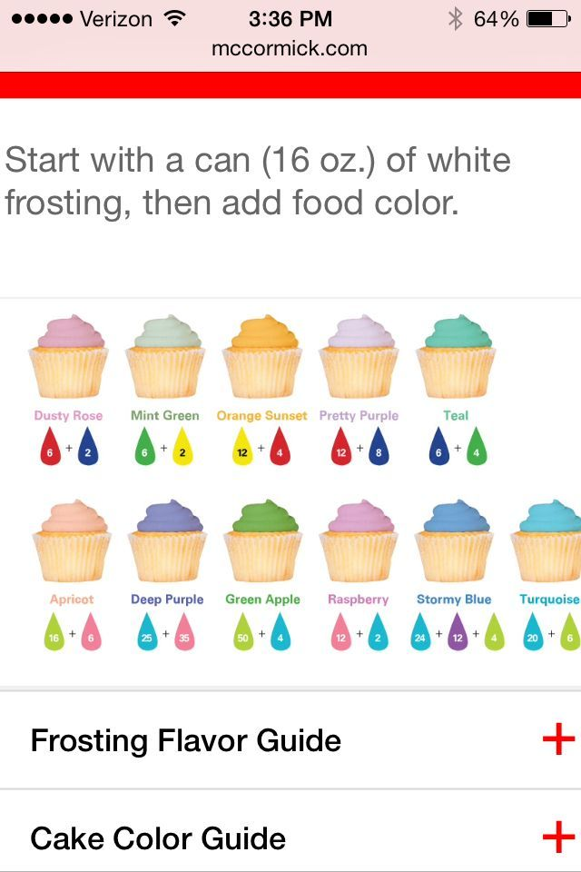 Image result for betty crocker food color gel Cakes, Cookies - food coloring chart