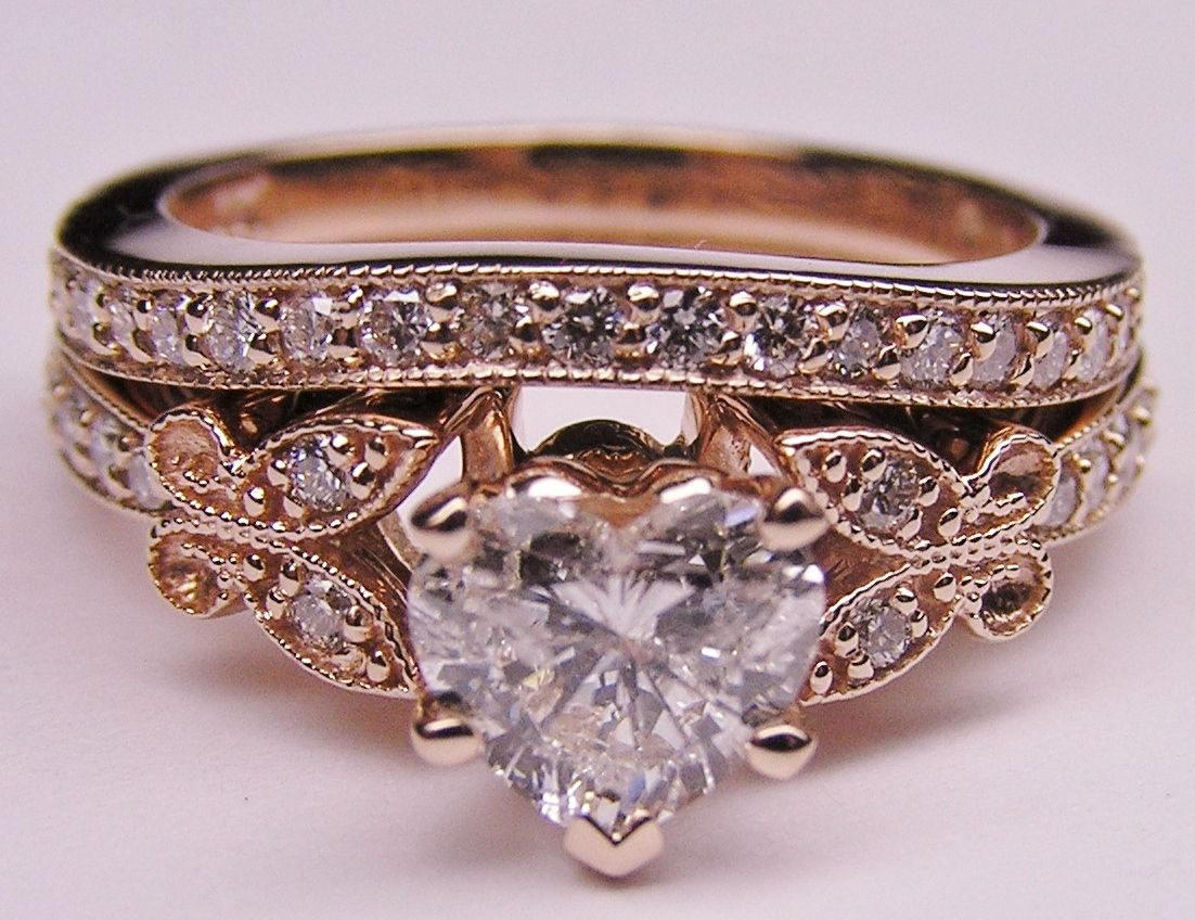 rings baubles i western wedding rings Heart Shape Diamond Butterfly Vintage Engagement Ring setting