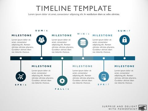 Timeline template for Powerpoint Great project management tools - career timeline template