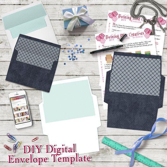 Navy and White 5x7 DIY Envelope Templates, Printable 5x7 DIY - sample 5x7 envelope template