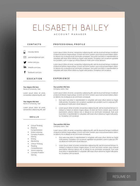 Resume template, #Cv template, Professional #resume template - best professional resume template