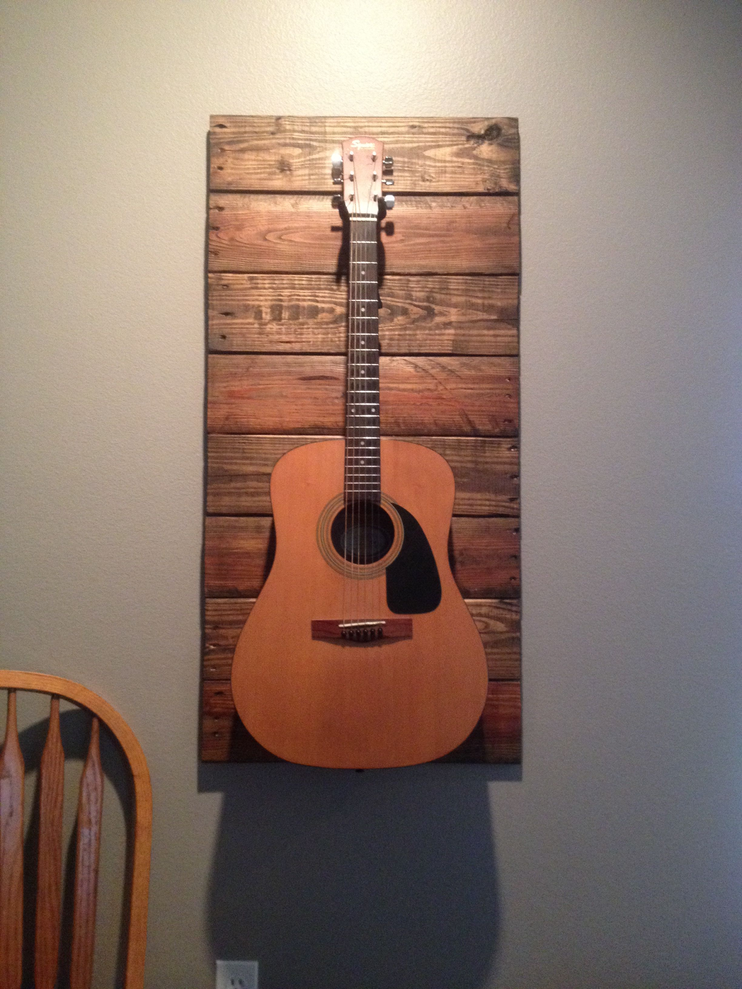 Guitar Decor For Bedroom Just Finished This Total Cost 2 Made It With A Free