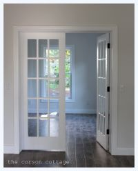 Enchanting White Glass Lite Entry French Door Frames With ...