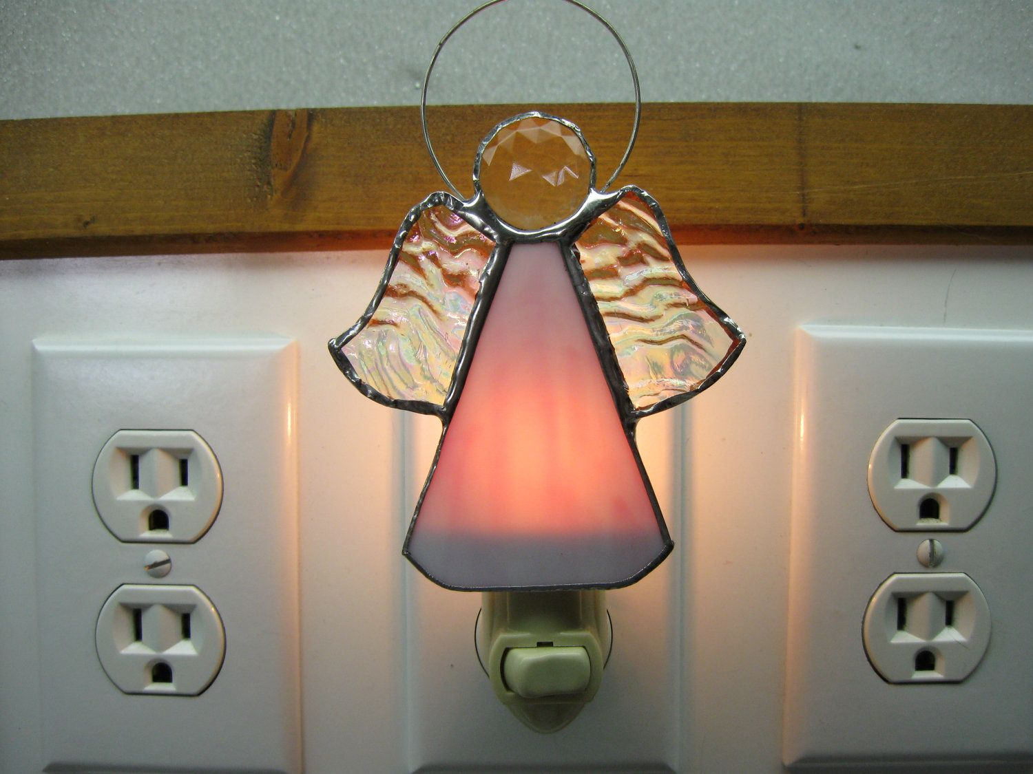 Glass Night Lights Angel Stained Glass Night Light Best Stained Glass Night