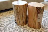 tree trunk side table  Roselawnlutheran