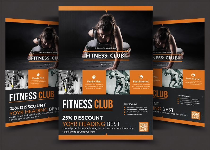 Best Fitness Club Flyer Template 20+ Fitness Flyer Template PSD - fitness flyer