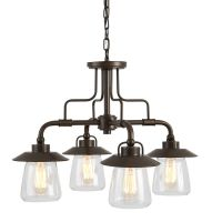 Shop allen + roth Bristow 4-Light Specialty Bronze ...