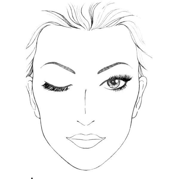 face template with eyes closed Blank Face template with one eye - eye chart template