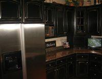 Black Distressed Kitchen Cabinets | Black Distressed ...