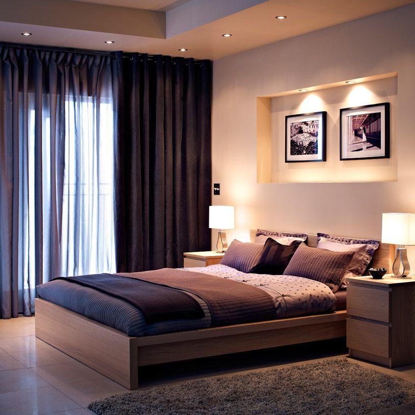 Ein Schlafzimmer mit MALM Bettgestell niedrig Eichenfurnier weiß - schlafzimmer mit malm bett 2