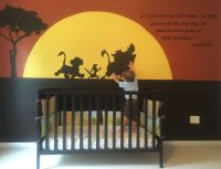 The mural I painted on Gunnars wall with the lion king ...