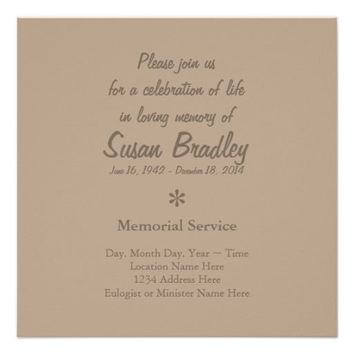 Elegant \ Modern Celebration of Life Invitation Projects to Try - invitation for funeral ceremony