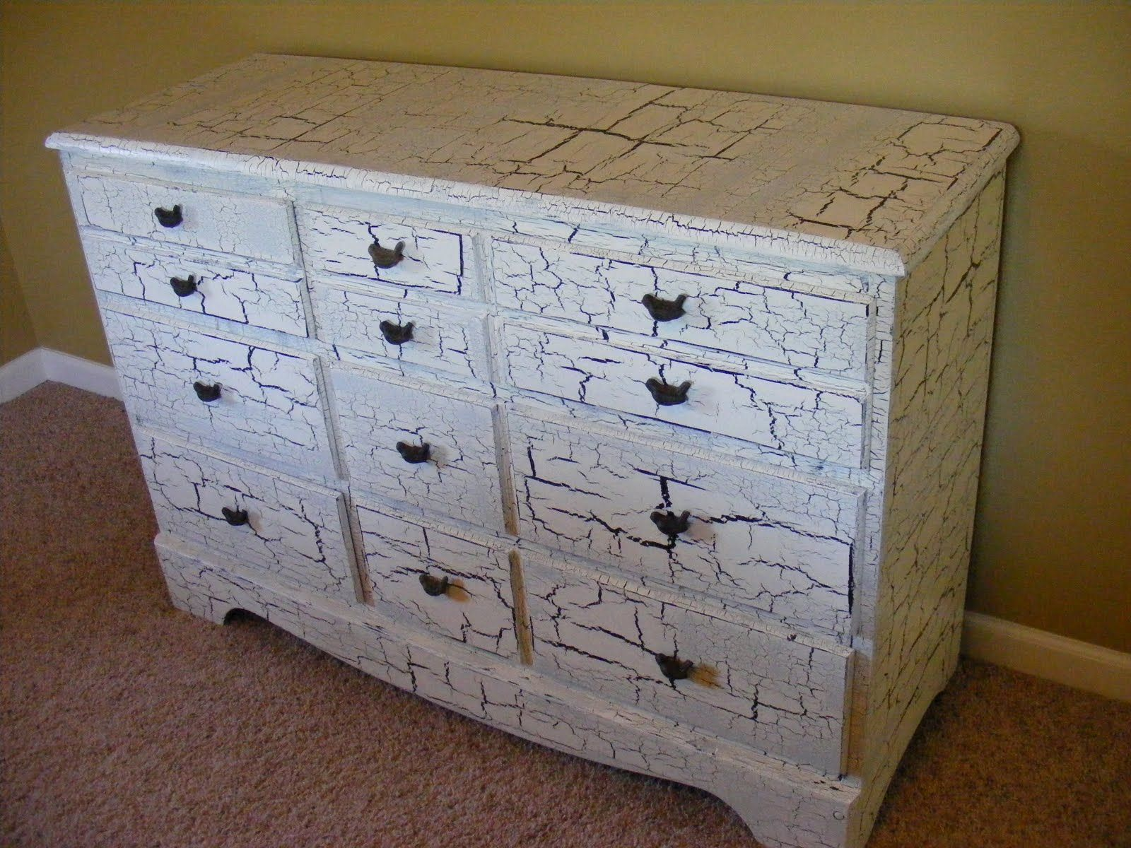 Crackle Paint Kitchen Cabinets Crackle Paint Dresser Diy For The Home Pinterest