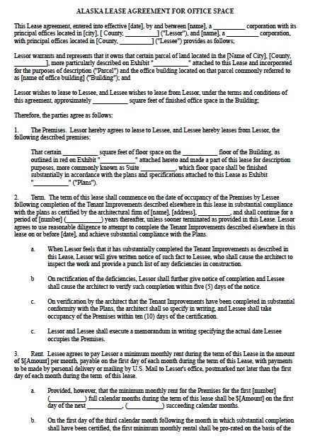 Printable Sample Commercial Lease Agreement Form Real Estate - sample commercial lease agreement