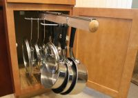 Pull Out Under Cabinet Hanging Pot and Pan Lid Rack ...