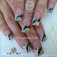 Black And Silver Glitter Acrylic Nails | www.imgkid.com ...
