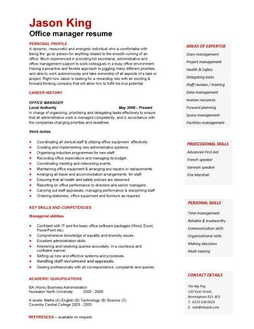A well written resume example that will help you to convey your - office manager resume examples