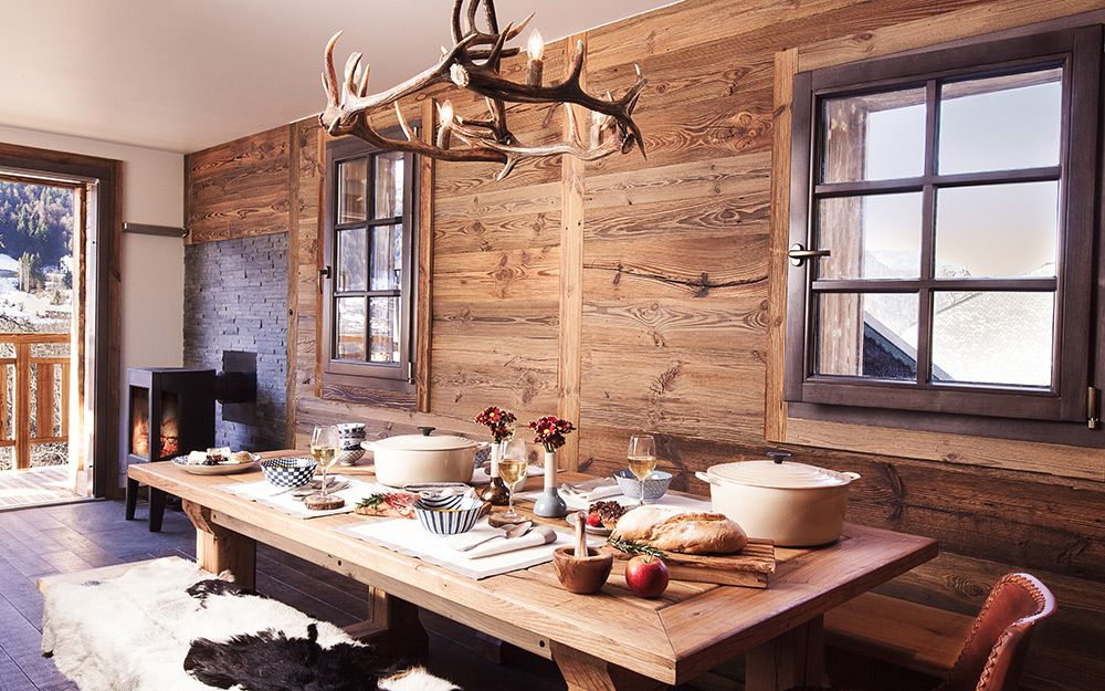 Hüttenzauber Rustikale holzmöbel, Holzmöbel und Rustikal - esszimmer chalet
