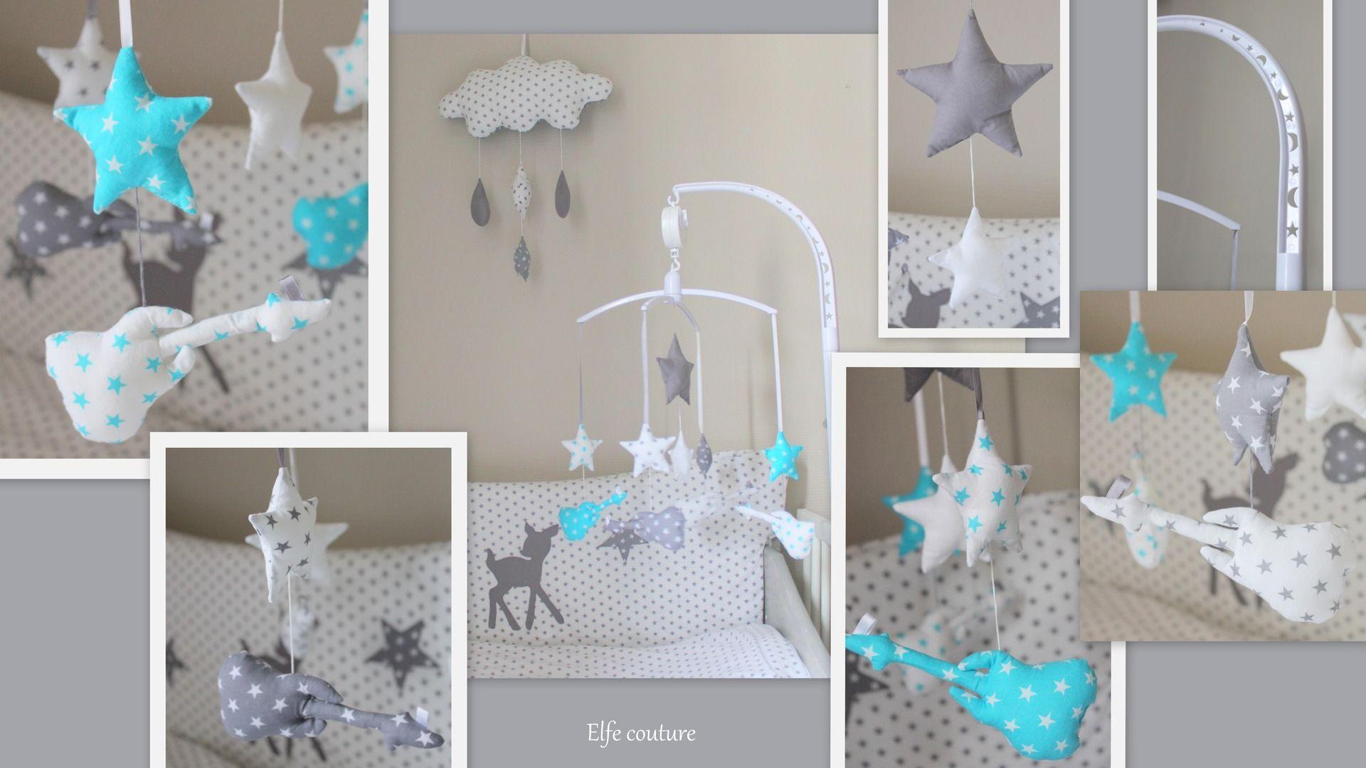 Revger Chambre Bebe Bleu Turquoise Et Gris Idée