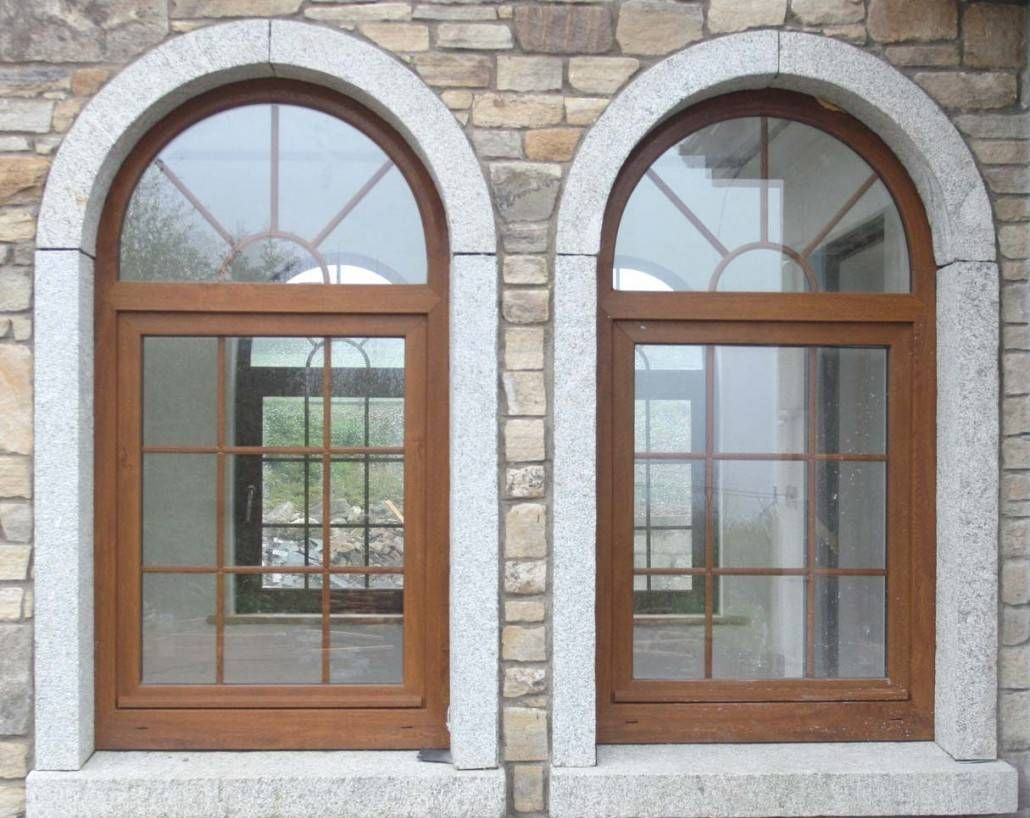 Granite Arched Home Window Design Ideas : Exterior Home