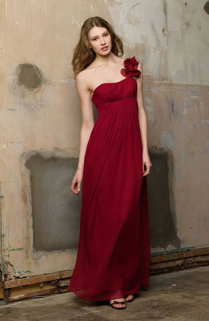 wedding dresses with red Dark red bridesmaid dresses