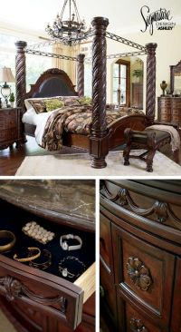 Queen Bedroom Furniture - North Shore Poster Bed - Ashley ...