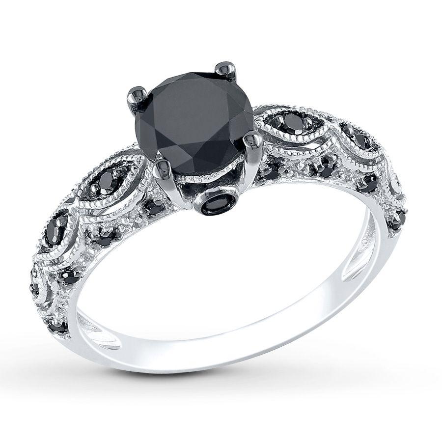 jared wedding bands Black diamond wedding rings Jared Black Diamond Ring 1 1 4 Carat tw