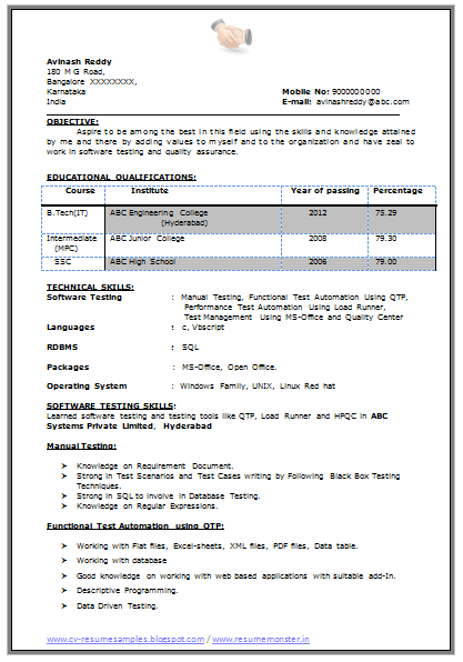 sample teaching resume format without experience best resume formats 47free samples examples format b tech resume - Resume Format Without Experience