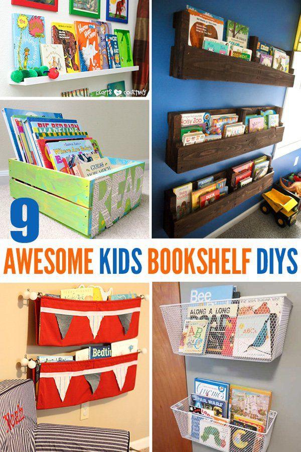 9 Awesome Diy Kids Bookshelves Kid Bookshelves