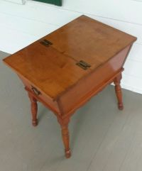 Vintage Maple Dough Box / Lamp End Table / Chest Trunk ...