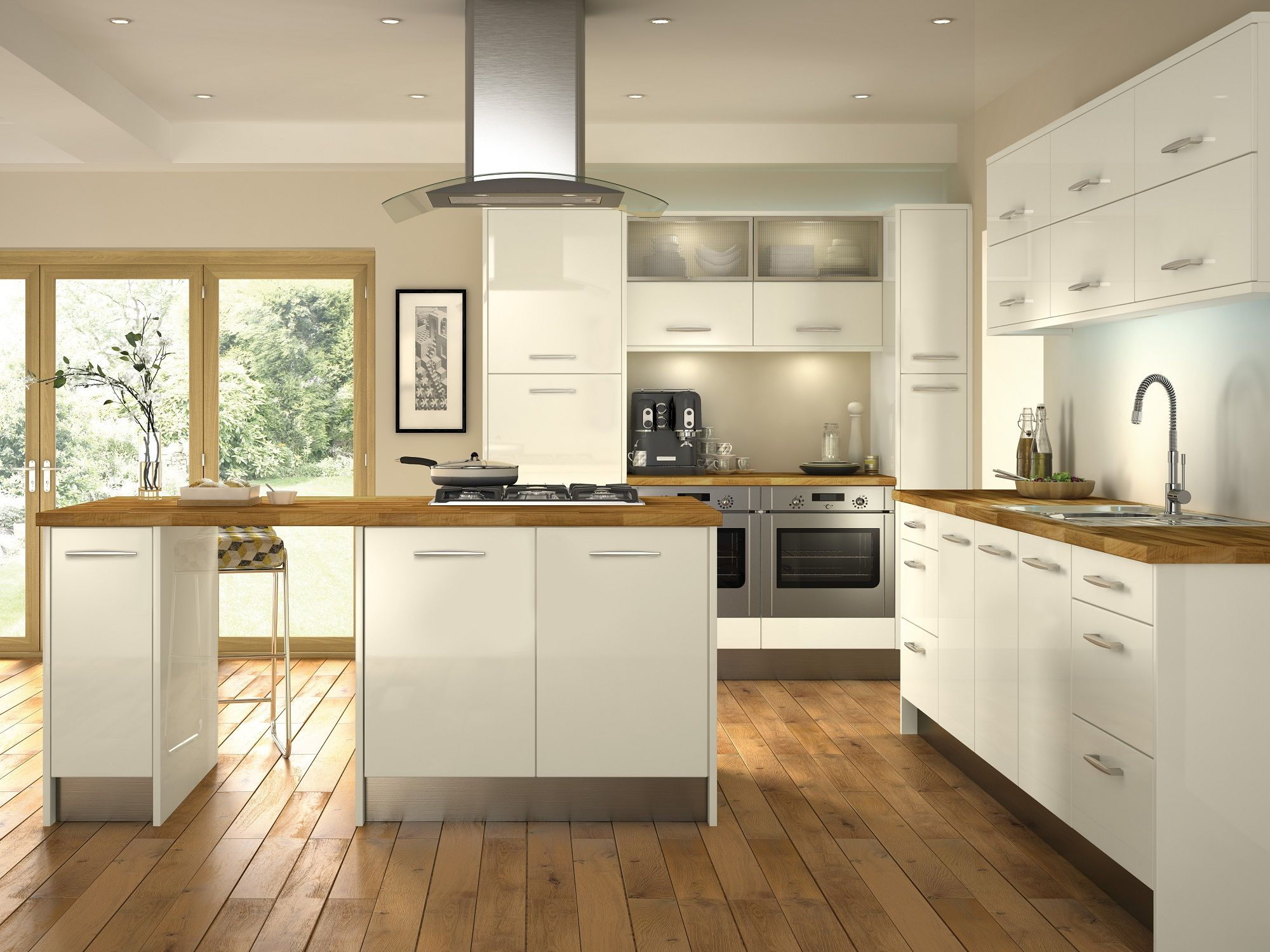 Minoco ivory this gloss kitchen door would make any kitchen feel contemporary http