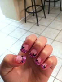 Cute fake nails from Walmart ...stick on's   Nails ...