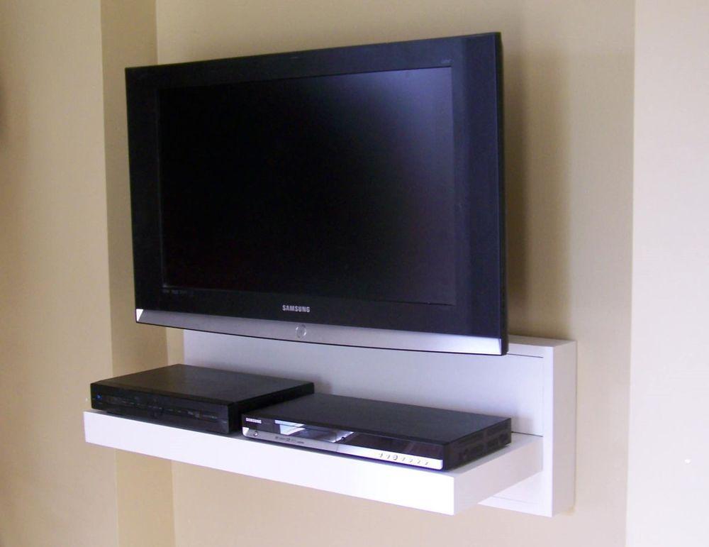 Floating AV component shelf
