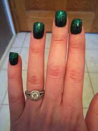 Green Glitter Acrylic Nails | www.pixshark.com - Images ...