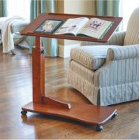 Walnut-Bedside-Rolling-Work-Table-Hospital-Bed-Tray-Laptop ...