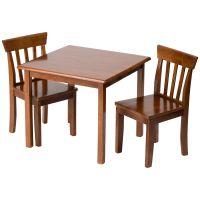 Furniture Kids Room Square Top Brown Varnished Mahogany ...