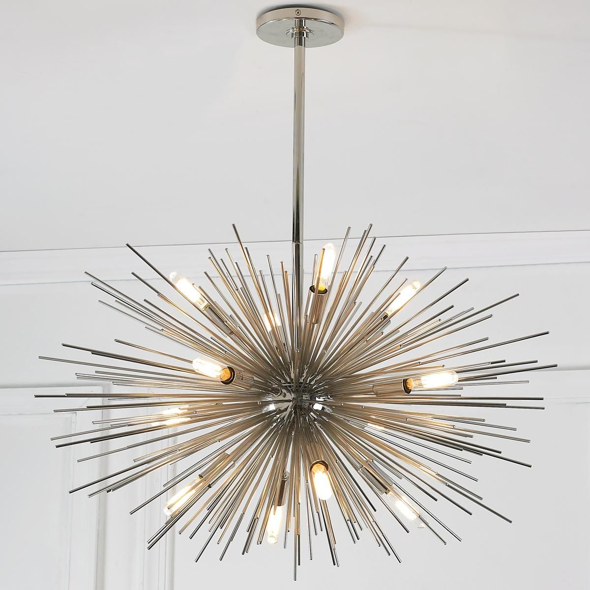 Modern Lighting Mid Century Modern Moonbeam Chandelier 12 Light
