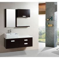 This floating bathroom vanity set is an excellent way to ...