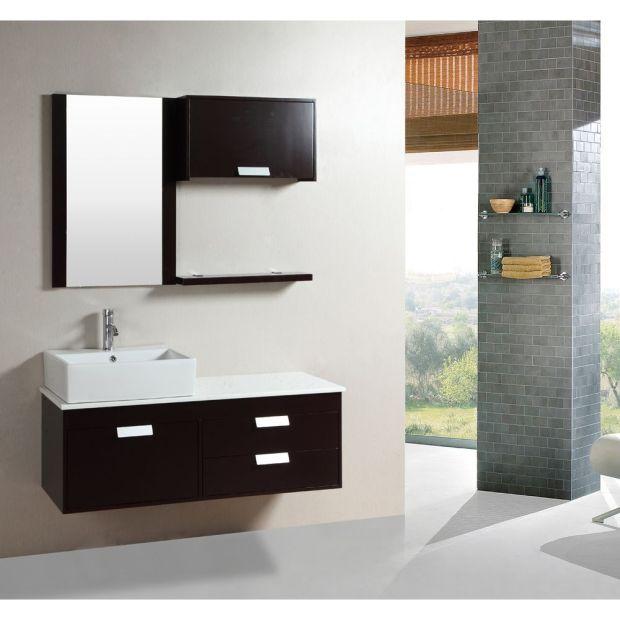 floating bathroom vanity set