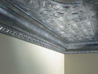 Tin Ceiling + Metallic Edging | For the Home | Pinterest ...